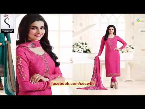 525a6507d5 latest indian dresses collections 2017 | vinay fashion |SILKINA ROYAL CREPE  VOL 8