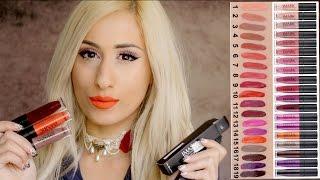 NEW! £1 IMAGIC LIP SWATCHES!! 💋 eBay / Aliexpress Liquid Lipstick REVIEW !