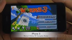 Worms 3 Online iPhone 5 HD Gameplay Review