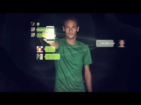 "WeChat Brasil - Neymar: ""Eu amo estar conectado aos meus amigos e família – Eu uso WeChat!"""