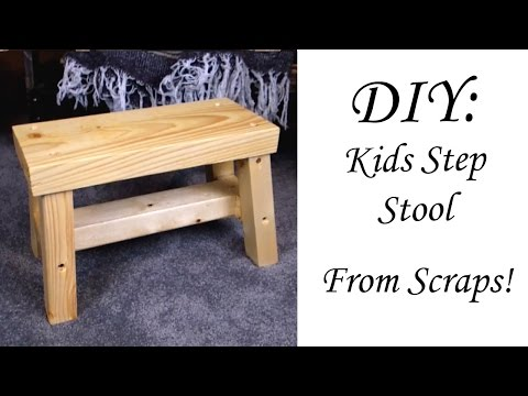 Quick DIY Kids Stool from SCRAPS!!!