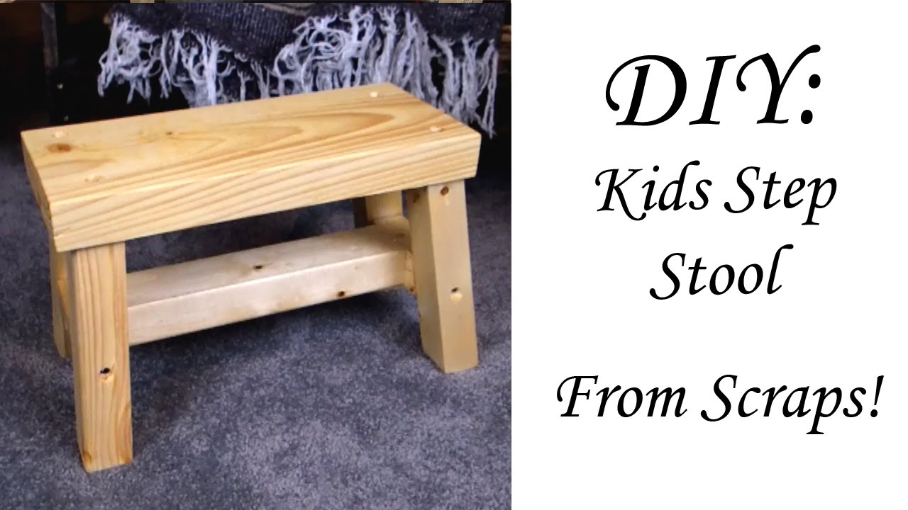 Quick diy kids stool from scraps youtube for Diy kids stool