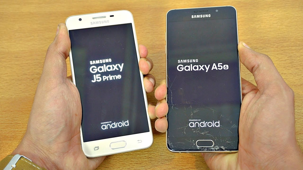Samsung Galaxy J5 Prime and Samsung Galaxy A5 - Test of the Speed
