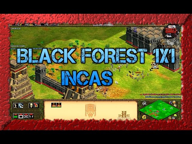 Age of Empires 2 HD 1x1 Black Forest Incas X Slavs AoE2HD Gameplay