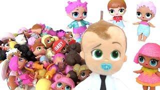 Куклы Лол Сюрприз Мультик! Босс Молокосос собрал Коллекцию Lol Surprise! Семейки Лол!