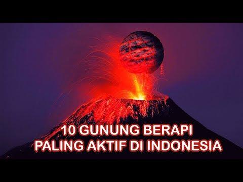 10 Gunung Berapi Paling Aktif Dan Berbahaya Di Indonesia