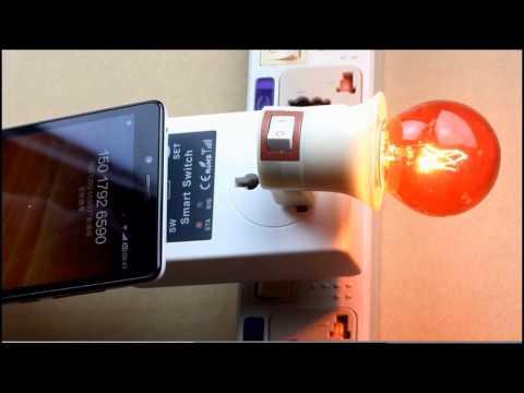SC1-GSM插座安装教程//GSM SIM remote controlled socket installation