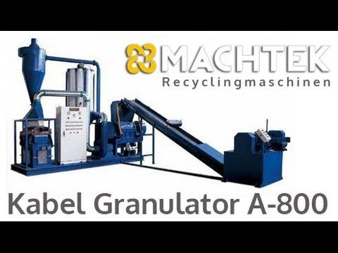 Kabel Granulator A-800 : Recycling : Kabeln : Kupfer und Aluminium ...