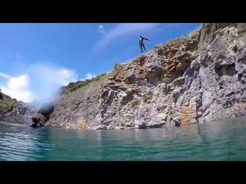 Quarry cliff diving Ireland