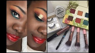 June 2018 BoxyCharm Makeup Tutorial | Alamar Cosmetics on Dark Skin