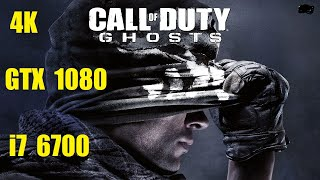 Call of Duty: Ghosts - 4K Ultra | GTX 1080 | i7 6700 3.4GHz Frame-Rate Test