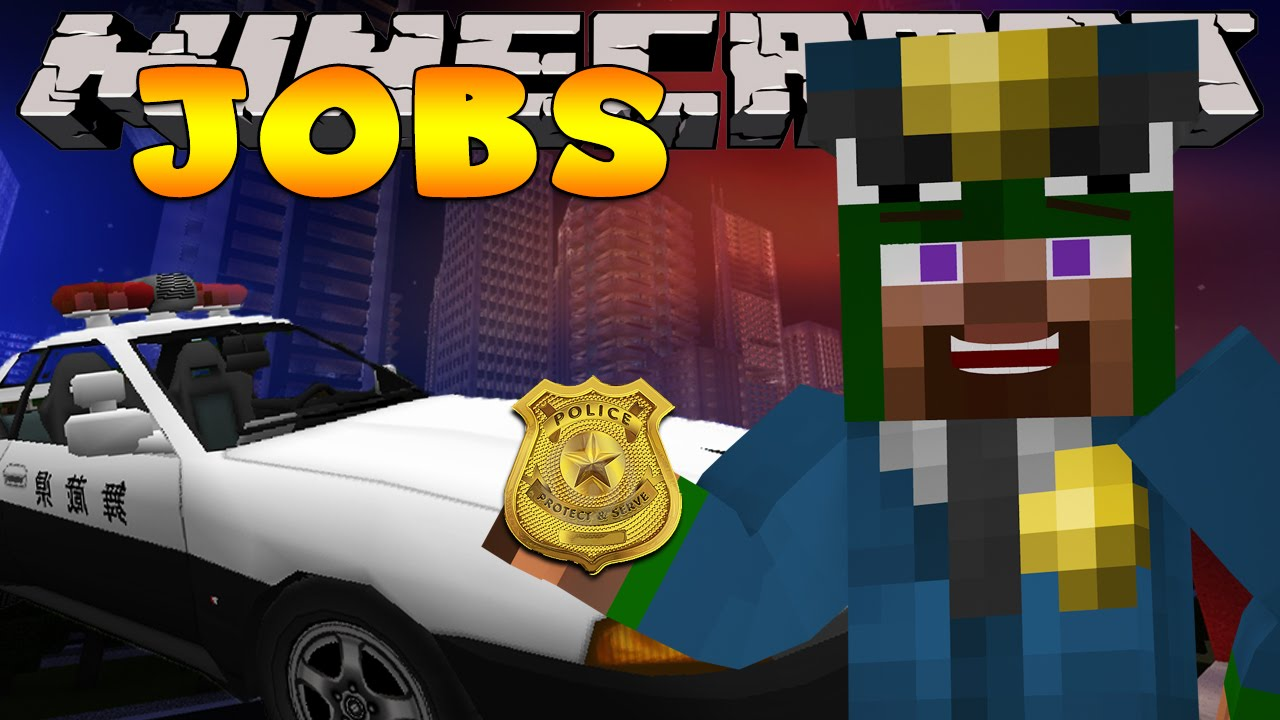 Minecraft Jobs - WORKING AS A POLICE OFFICER! (Custom