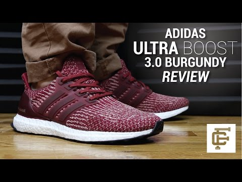 ADIDAS ULTRA BOOST 3.0 BURGUNDY REVIEW YouTube