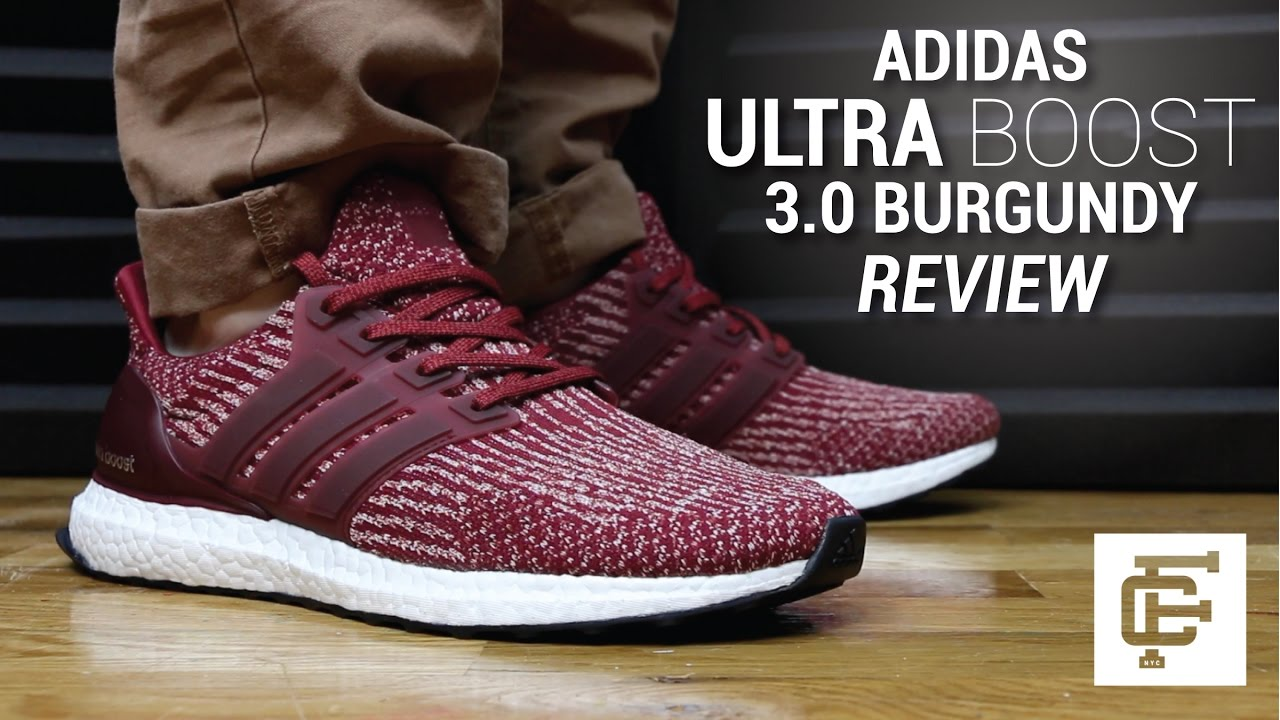 b37a9df202c06 ADIDAS ULTRA BOOST 3.0 BURGUNDY REVIEW - YouTube