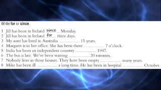 For since ago - английский бесплатно - Урок №19 (HD)
