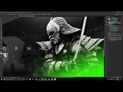 Free Template Samurai YouTube Banner/Speed Art
