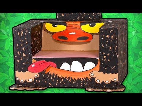 Cardboard Gorilla Chair - Craft Ideas For Kids | DIY on Box Yourself