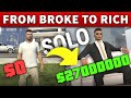 Gambar cover From BROKE to RICH MILLIONAIRE | Step by Step SOLO GUIDE for NEW Players in GTA Online Fast MONEY