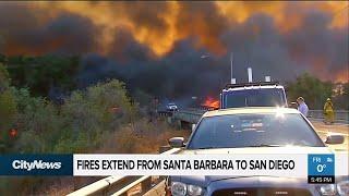California wildfires spreading amid dire conditions