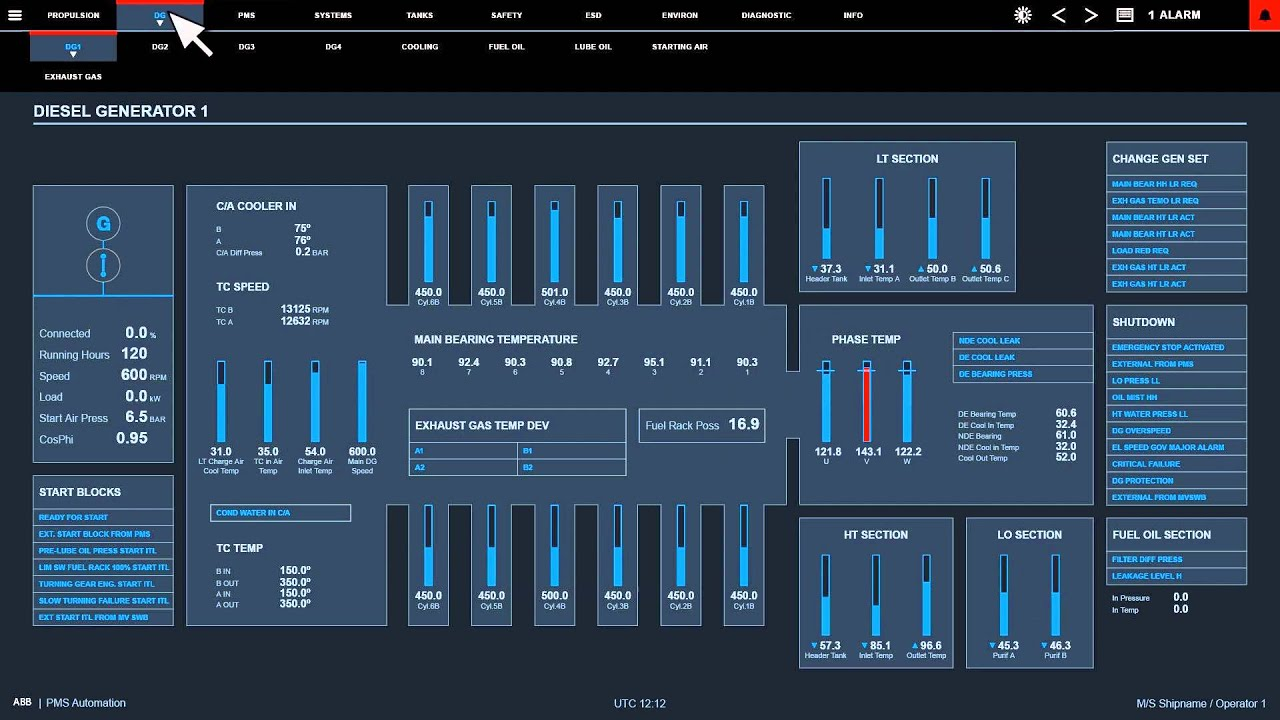 Abb 180 S New Marine Automation User Interface Youtube