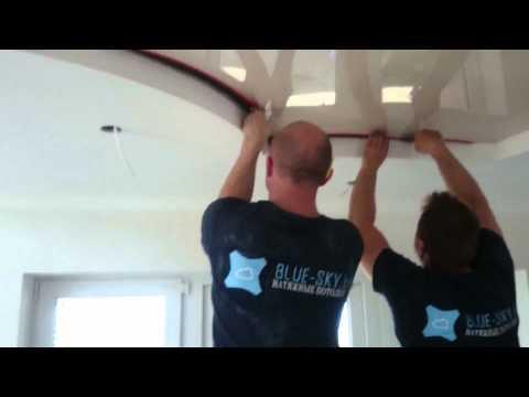 Монтаж натяжного потолка в сочетании с конструкцией из гипсокартона