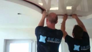 Монтаж натяжного потолка в сочетании с конструкцией из гипсокартона(В этом видео мы показываем один из этапов процесса монтажа многоуровневого натяжного потолка в сочетании..., 2015-06-10T07:49:09.000Z)