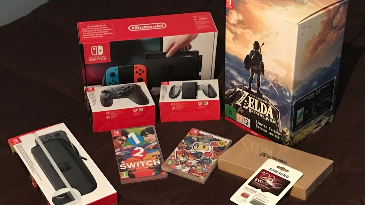 Unboxing nintendo switch zelda edici n limitada otros for Housse zelda nintendo switch