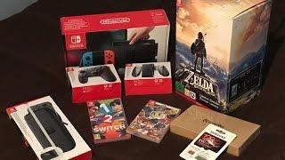 Unboxing Nintendo Switch + Zelda Edición Limitada, otros juegos y Accesorios