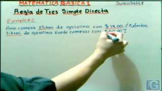 Regla de Tres Simple Directa - Simple Rule of Three Direct - GCMatematica