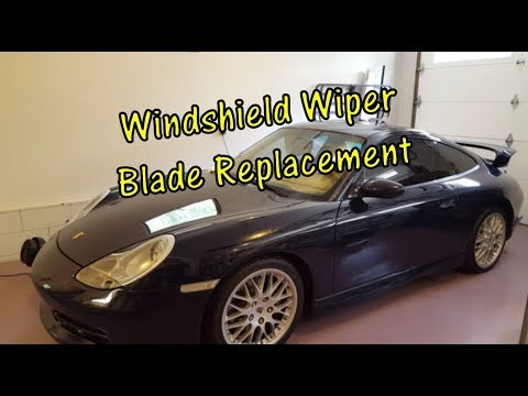 How To Remove & Replace Porsche 911 Carrera Windshield Wiper Blades (DIY)
