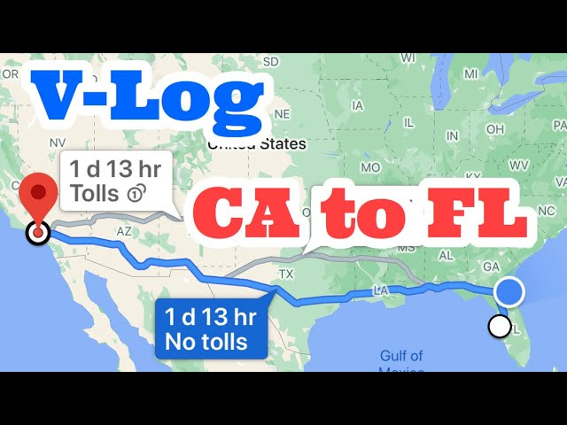 V-Log California to Florida. Unloaded on the airstrip!