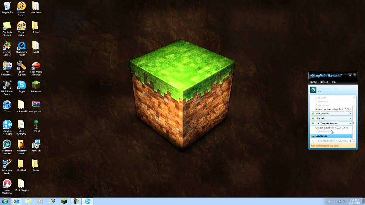 how to make minecraft server with hamachi