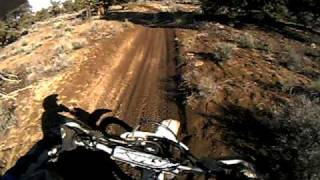 Honda XR250R (1995) trail riding at 4 corners Oregon