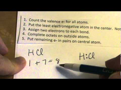 lewis dot structure for hcl youtube Dot Notation Hydrogen lewis dot structure for hcl