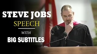 Steve Jobs: Stay Hungry, Stay Foolish! - Stanford Commencement | ENGLISH SPEECH with BIG Subtitles
