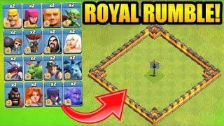 !!!* (MUST WATCH) EPIC CLASH OF CLANS ROYAL RUMBLE