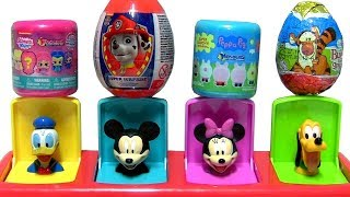 Mickey Pop Up toys egg surprises Paw Patrol Peppa Pooh Bear