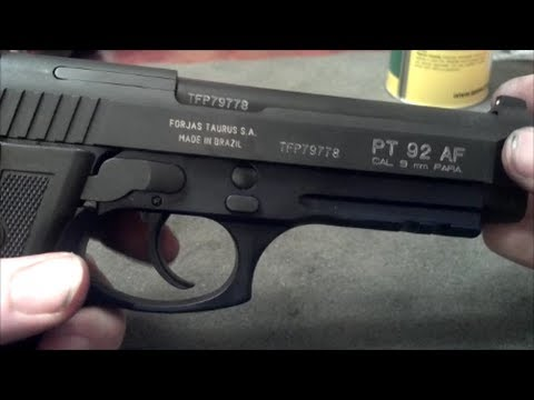 Taurus PT 92 Takedown and Cleaning