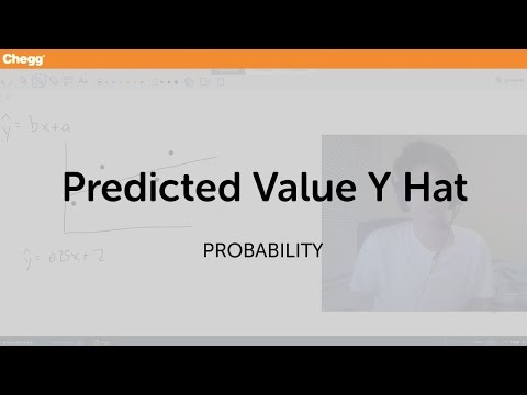 Predicted Value Y Hat | Statistics and Probability | Chegg Tutors