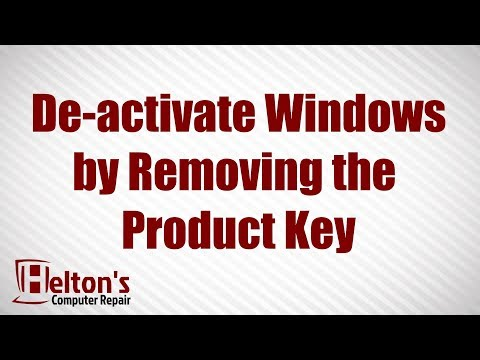 How To Deactivate Windows By Removing Product Key - Windows 10