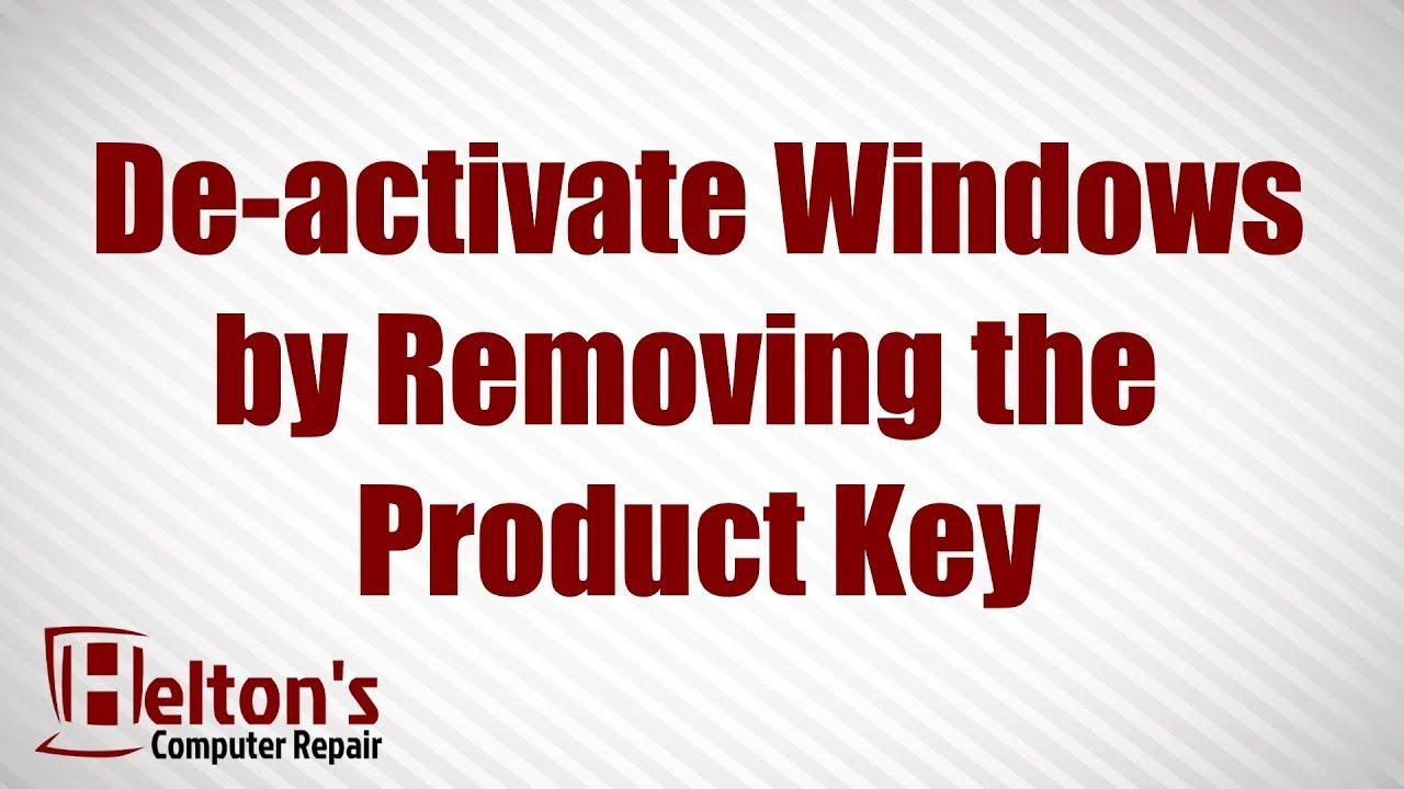 deactivate your windows key