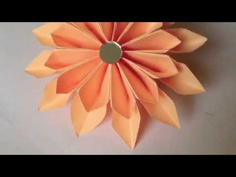 How to make paper origami flower