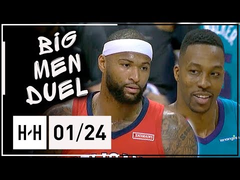 DeMarcus Cousins vs Dwight Howard BIG MEN Duel Highlights (2018.01.24) Hornets vs Pelicans - SICK!