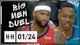 DeMarcus Cousins vs Dwight Howard BIG MEN Duel Highlights (2018.01.24) Hornets vs Pelicans - SICK!