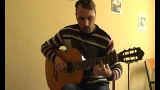 """""""Он был старше ее"""" - Машина Времени (соло кавер на гитаре В.Трощинков   уроки гитары Киев и Скайп)"""