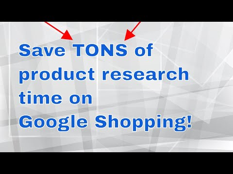 Chris Reid's Google Shopping Tip - How to save TONS of product research time with GTM