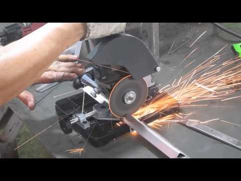 การตัดเหล็กฉาก แท่นจับหินเจียร 4 นิ้ว lerom ts125/115