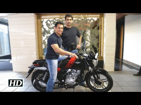 Watch Aamir buys bike containing metal of INS Vikrant