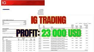 Web Trading Forex Robot Clicker: Broker IG Profit 23 000 USD