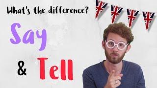 Diferencia entre 'SAY' y 'TELL' en inglés